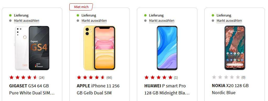 Media Markt & Saturn Smartphone Fieber   z.B. APPLE iPhone 11   256GB Gelb für 689 (statt 778€)