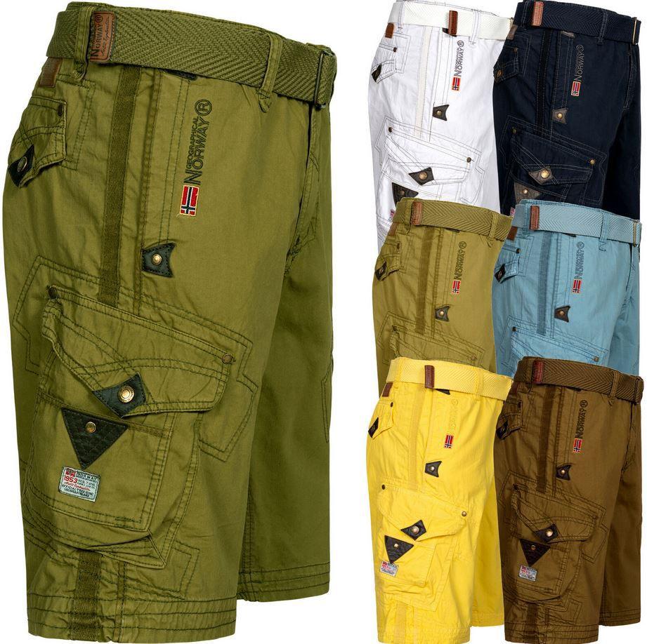 Geographical Norway GNPEANT Herren Cargo Shorts mit Gürtel für je 37,90€ (statt 45€)