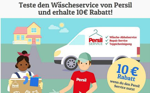 Frag Team Clean: 10€ Gutschein für Persil Wäsche Service