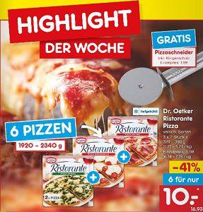 Netto: 6 Pizzen für 10€ kaufen   1 Pizzaschneider kostenlos dazu