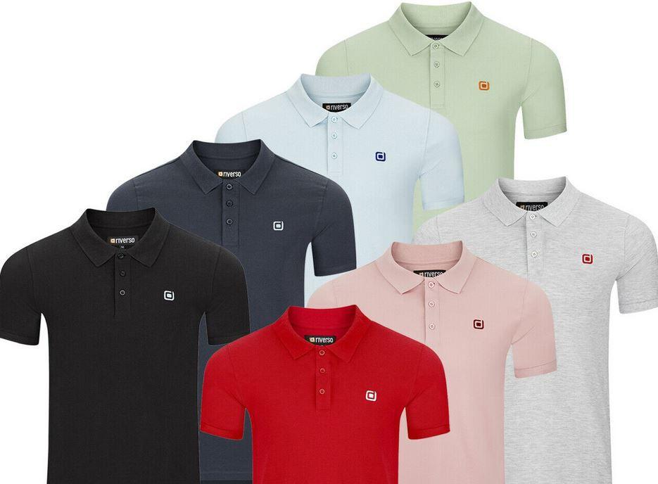 2er Pack riverso Herren Poloshirts in Regular Fit bis 5XL für je 23,95€ (statt 40€)