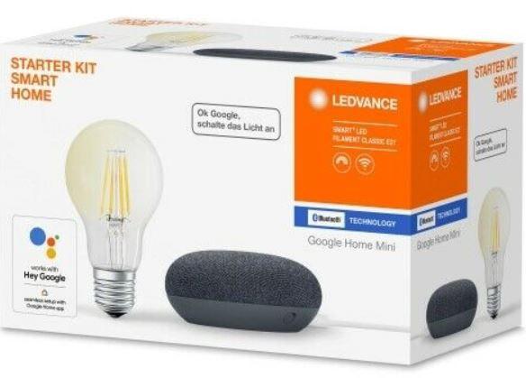 Top! LEDVANCE Filament Leuchtmittel + Google Home Mini für 19,99€ (statt 40€)