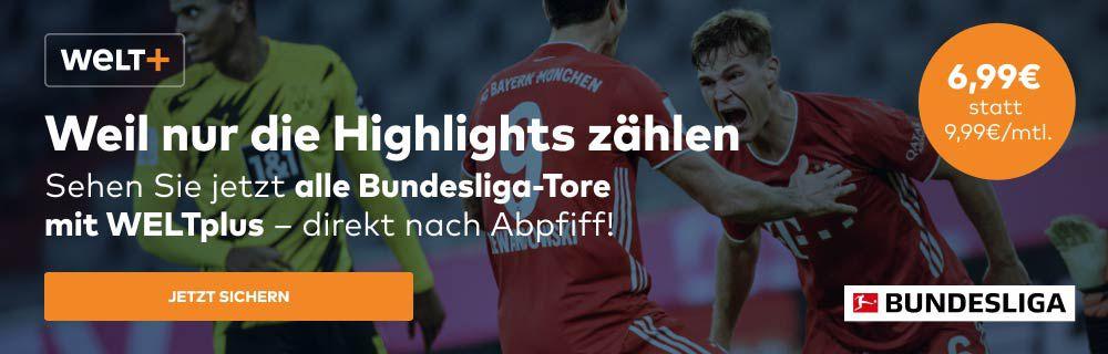 30% Rabatt auf WELTplus inkl. Bundesliga Highlights direkt nach Abpfiff