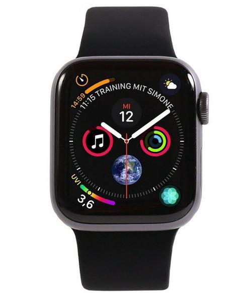 Apple Watch Series 4 GPS 44mm Aluminium in Silber, Spacegrau für 169,99€ (statt neu 330€) -gebraucht