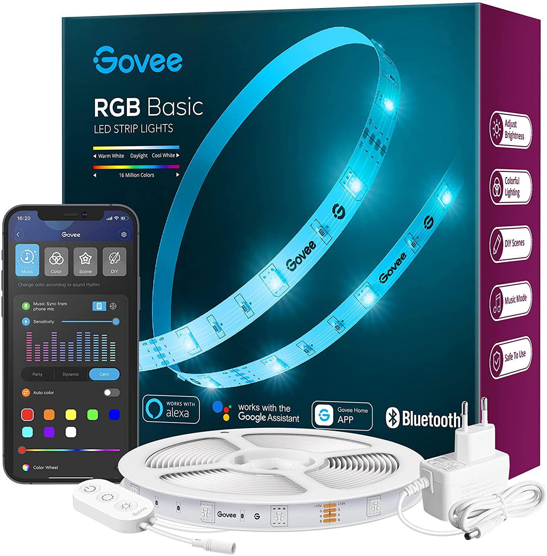 Govee H615A3A1   5m WLAN LED Streifen mit App Steuerung für 16,49€ (statt 22€)   Prime
