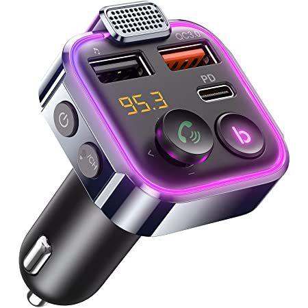 AINOPE AV849 Bluetooth 5.0 FM-Transmitter mit 2x USB & 1 USB-C  (42W PD + QC3.0) für 11,49€ (statt 22€) – Prime