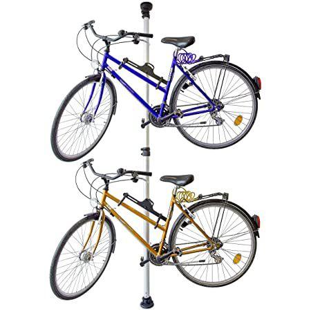 Relaxdays Teleskop Fahrradhalterung für 2 Fahrräder bis 340cm Raumhöhe für 37,21€ (statt 80€)