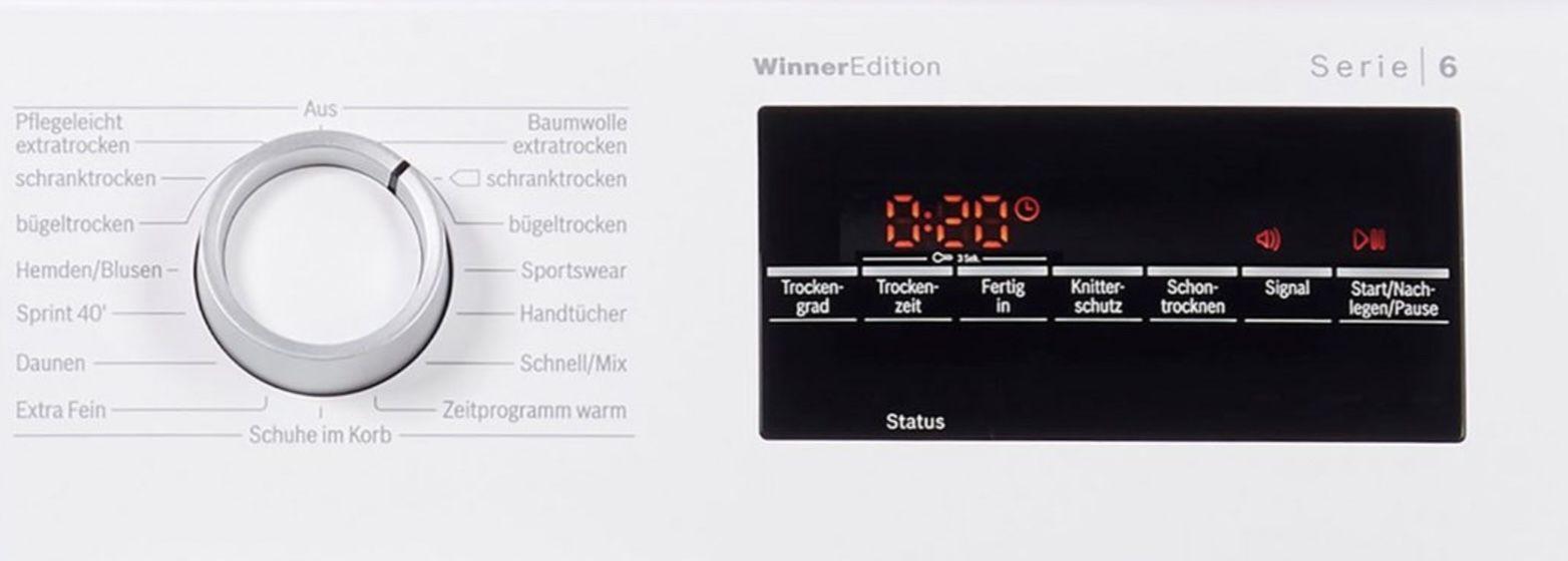 BOSCH WTR 874 WIN Wärmepumpentrockner mit AutoDry + 80€ adidas Geschenkkarte ab 509€ (statt 589€)