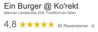 Ein Burger aus Frankfurt: Burger nach Wahl inkl. Pommes für 8€ (statt 12€)