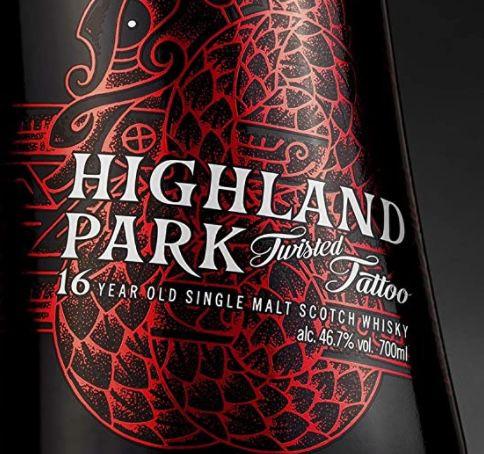 Highland Park 16 Jahre Twisted Tattoo Premium Whisky mit leichter Torfnote für 65,60€(statt 80€)