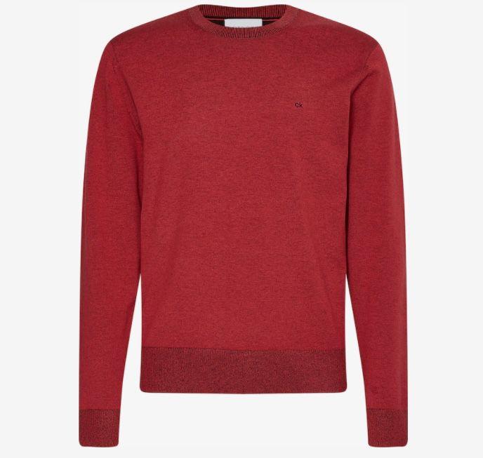 Calvin Klein Herren Pullover aus Bio-Baumwolle in Rostrot ab 37,99€ (statt 53€)