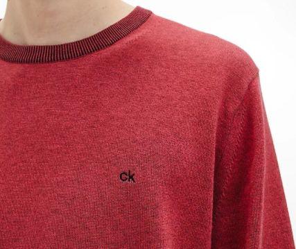 Calvin Klein Herren Pullover aus Bio Baumwolle in Rostrot ab 37,99€ (statt 53€)