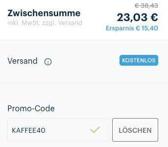 40% Rabatt auf Lavazza Kaffee & Bohnen   z.B. 7x Qualita Oro 250g Dose für 23€ (statt 31€)