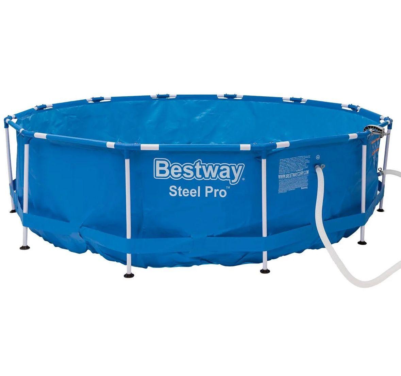 Bestway Metal Frame Pool 366 x 84cm mit FrameLink System für 84,94€ (statt 185€?)