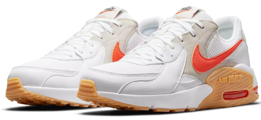 Nike Air Max Excee Sneaker in White/Orange bis Größe 42,5 für 79,95€(statt 109€)