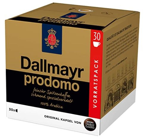 90er Pack NESCAFÉ Dolce Gusto Dallmayr Prodomo Kapseln ab 11,94€ (statt 21€)   Prime Sparabo