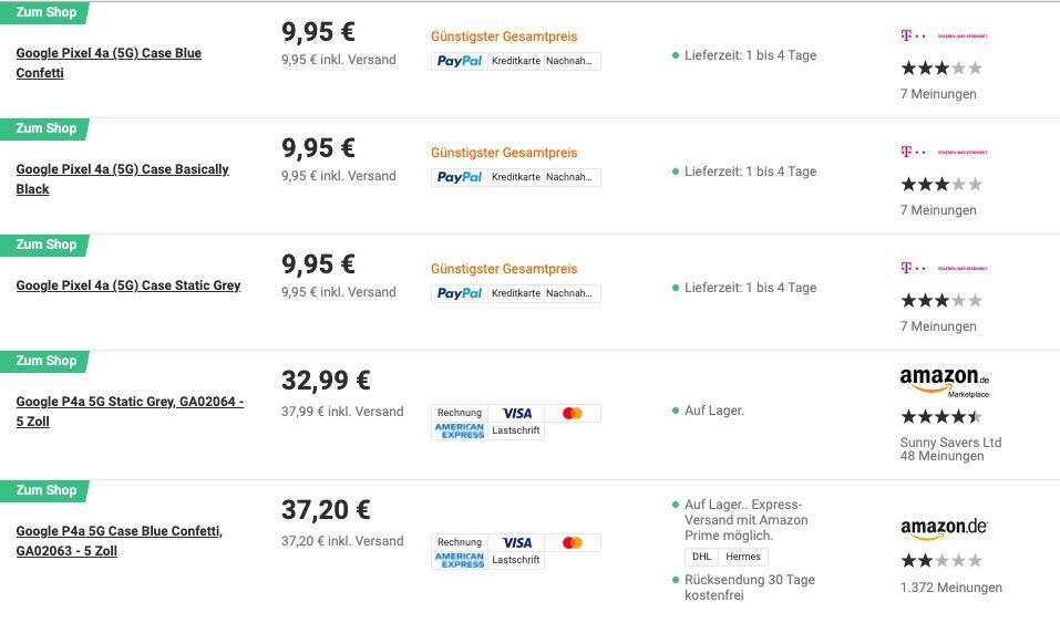 Google Pixel 4a 5G Backcover Case für 9,95€ (statt 30€)