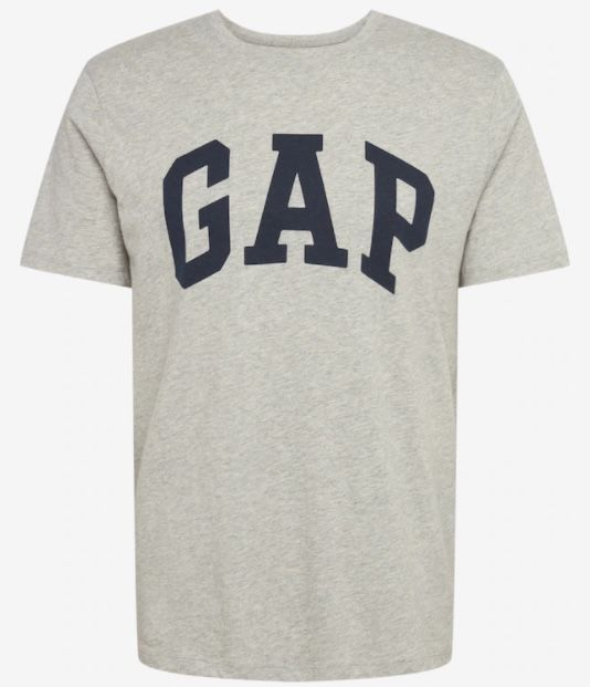 GAP V Basic Logo T Shirt in Grau für 9,90€(statt 20€)
