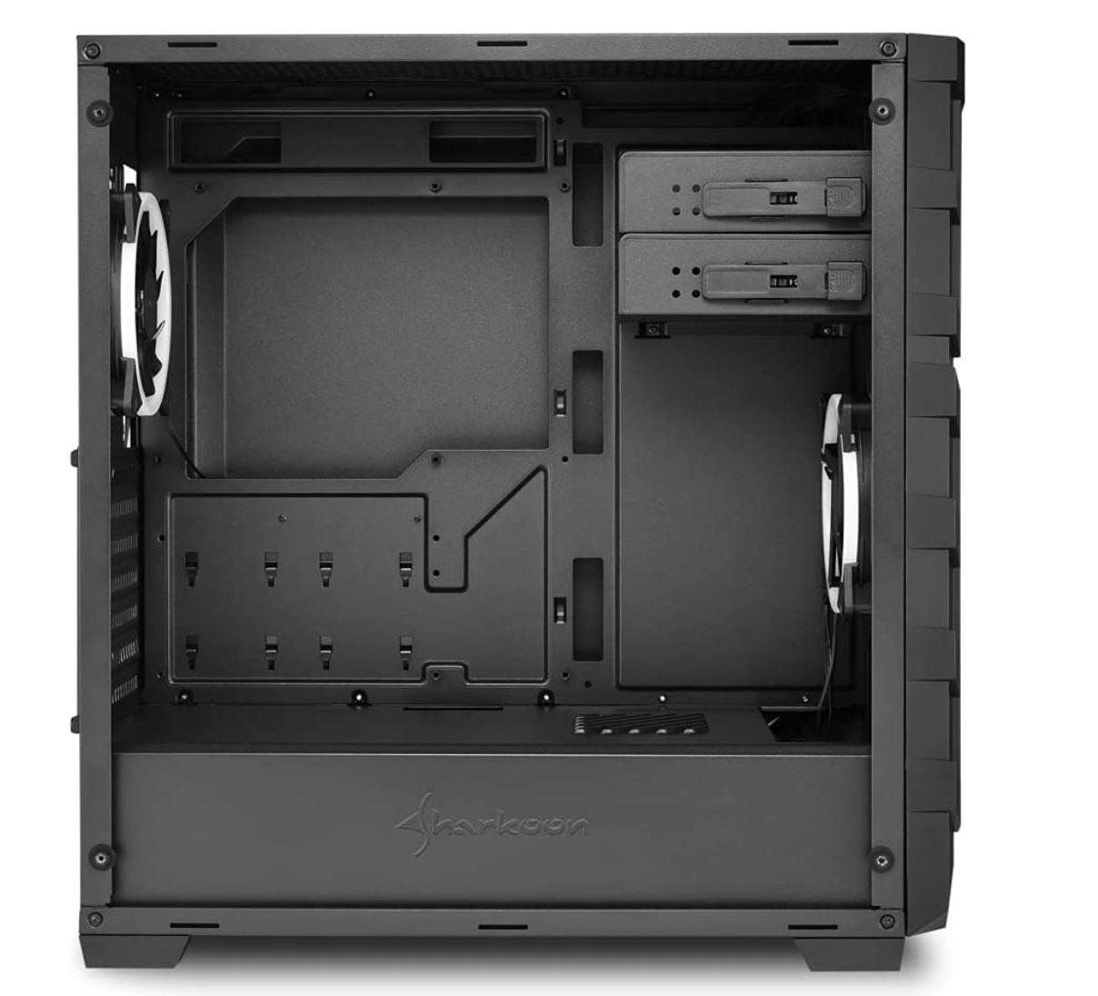 Sharkoon SKILLER SGC1 RGB Tower Gehäuse in Schwarz für 36,98€ (statt 62€)