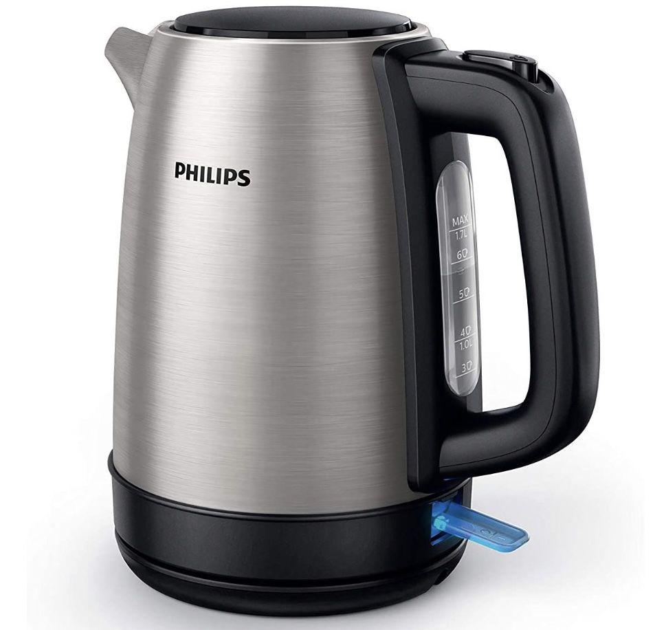 Philips HD9350/90 1.7L Wasserkocher aus Edelstahl mit 2200 W für 20,99€ (statt 30€)
