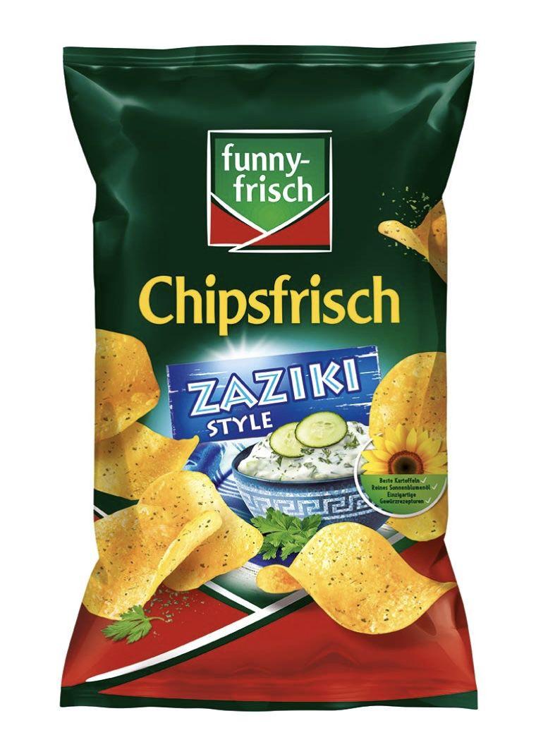 10er Pack funny frisch Chipsfrisch Zaziki Style für 7,63€   Prime Sparabo