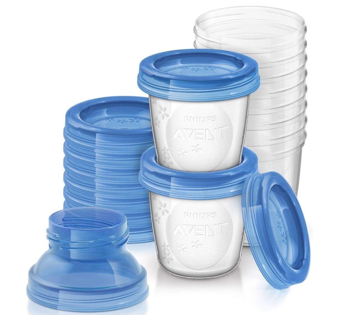 Philips AVENT SCF618/10 Aufbewahrungssystem für Muttermilch inkl. Deckel für 5,96€ (statt 9€)   Prime