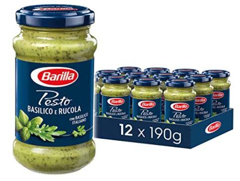 12er Pack Barilla grünes Pesto Basilico e Rucola ab 19,10€ (1,59€ pro Glas) – Prime Sparabo