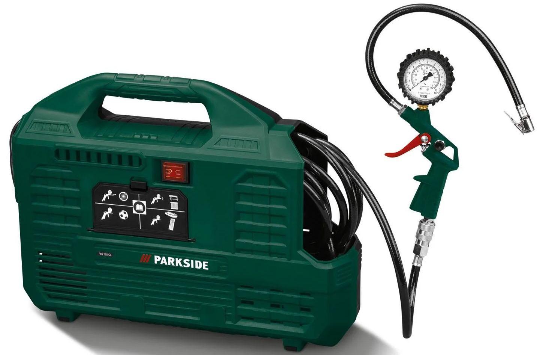 Parkside PKZ 180 C5 Kompressor mit max. 8 bar für 44,94€ (statt 60€)