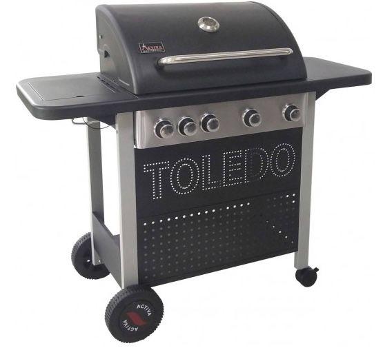 Activa Toledo 500 Gasgrill mit 4 Brenner + Gusseisen Grillrost für 206,49€ (statt 322€)