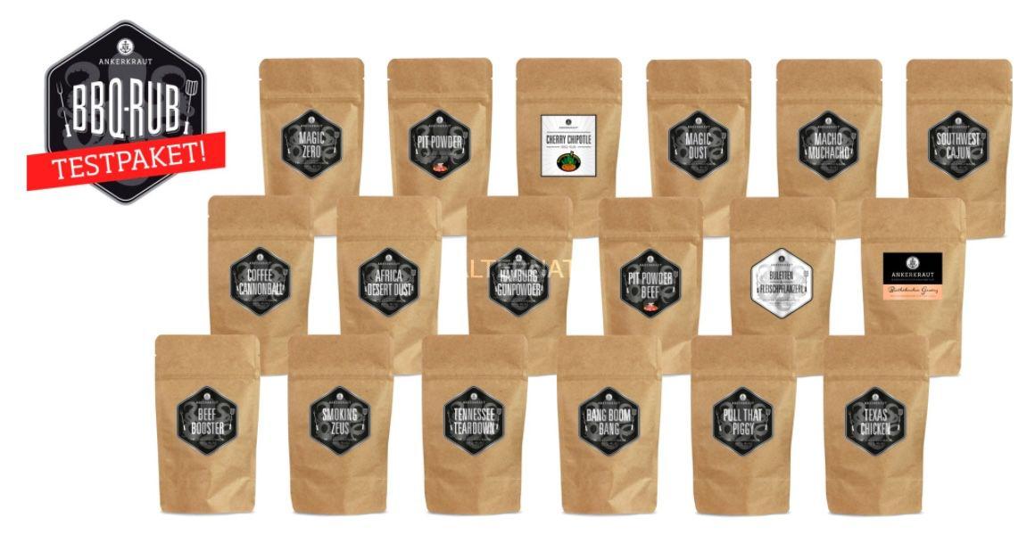 Ankerkraut BBQ Mega Testpaket mit 18 Rubs für 24,99€ (statt 33€)