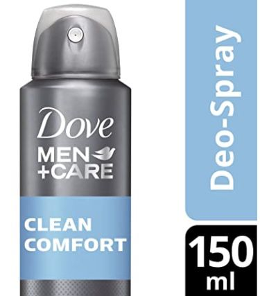 4x Dove Men+Care Deospray Clean Comfort Anti Transpirant für 3,77€ (statt 5€)   Prime Sparabo