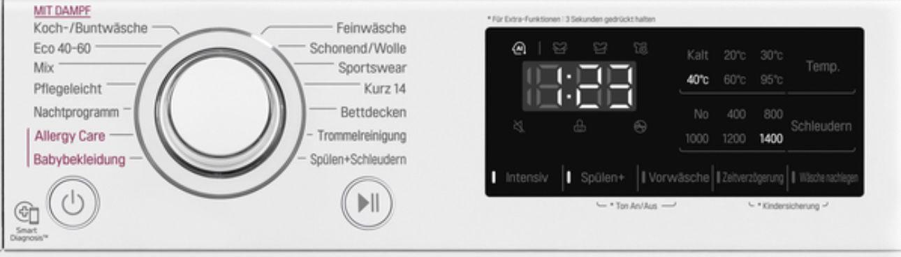 LG F4WV308S0 8kg Waschmaschine mit 1400 U/Min ab 349€ (statt 461€)