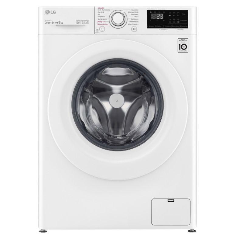 LG F4WV308S0 8kg-Waschmaschine mit 1400 U/Min ab 349€ (statt 461€)