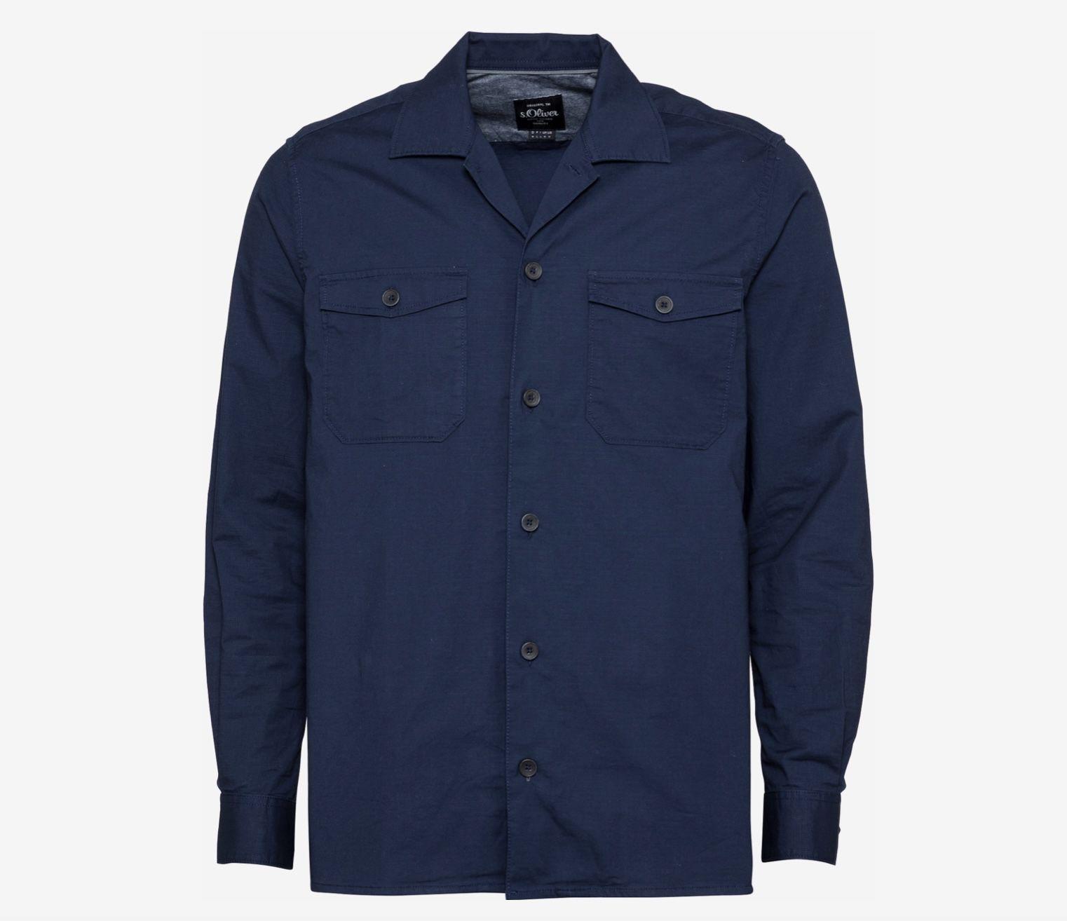 s.Oliver Hemd aus Baumwollstretch in Blau für 13,96€ (statt 27€)