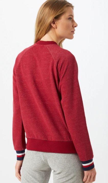 Tommy Hilfiger Damen Sweatshirt mit Fleece Logo in Dunkelrot für 25,96€ (statt 39€)
