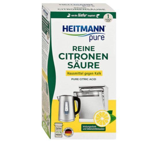 5x 350g HEITMANN pure reine Zitronensäure ab 6,96€ (statt 10€)   Prime Sparabo