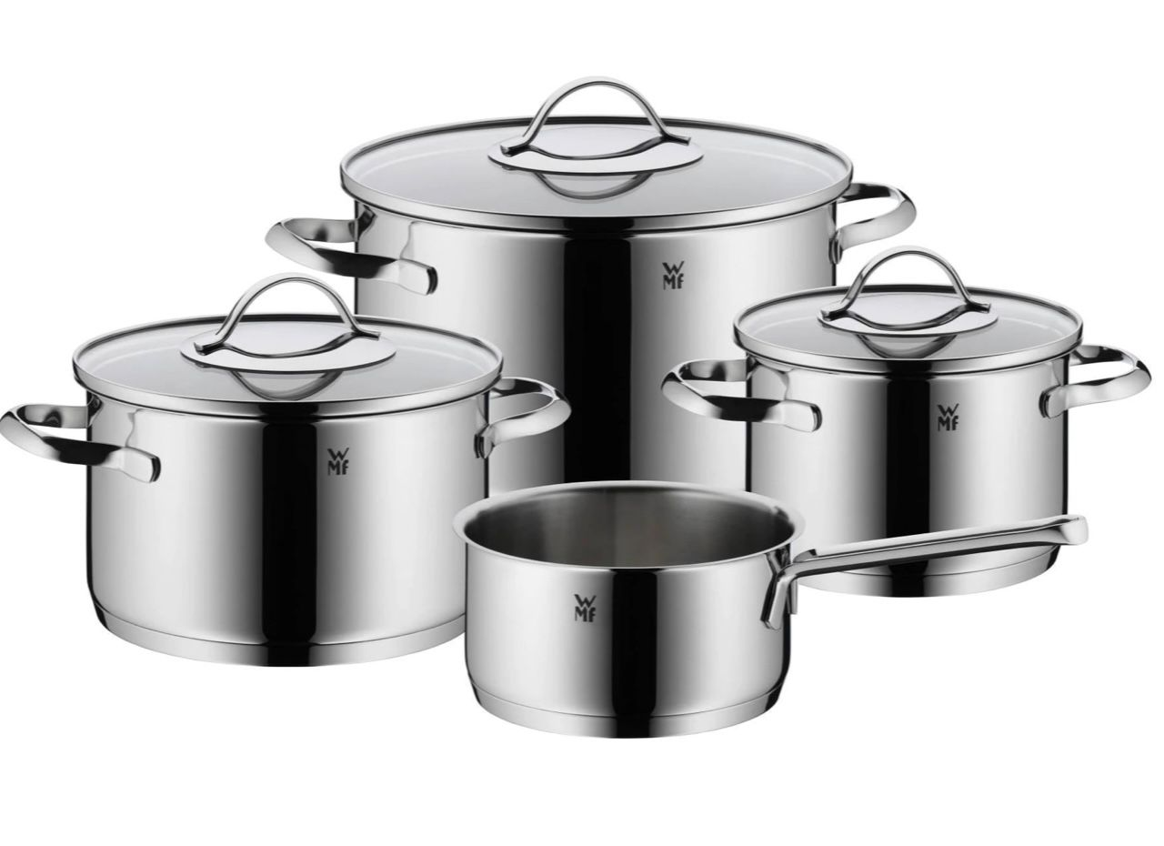 WMF Aparto 4 teiliges Kochgeschirr Set aus Cromargan Edelstahl für 104,99€ (statt 130€)