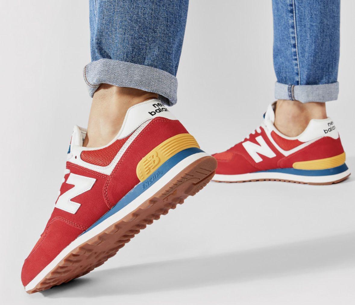 New Balance ML574HA2 Sneaker in Rot für 52€ (statt 71€)