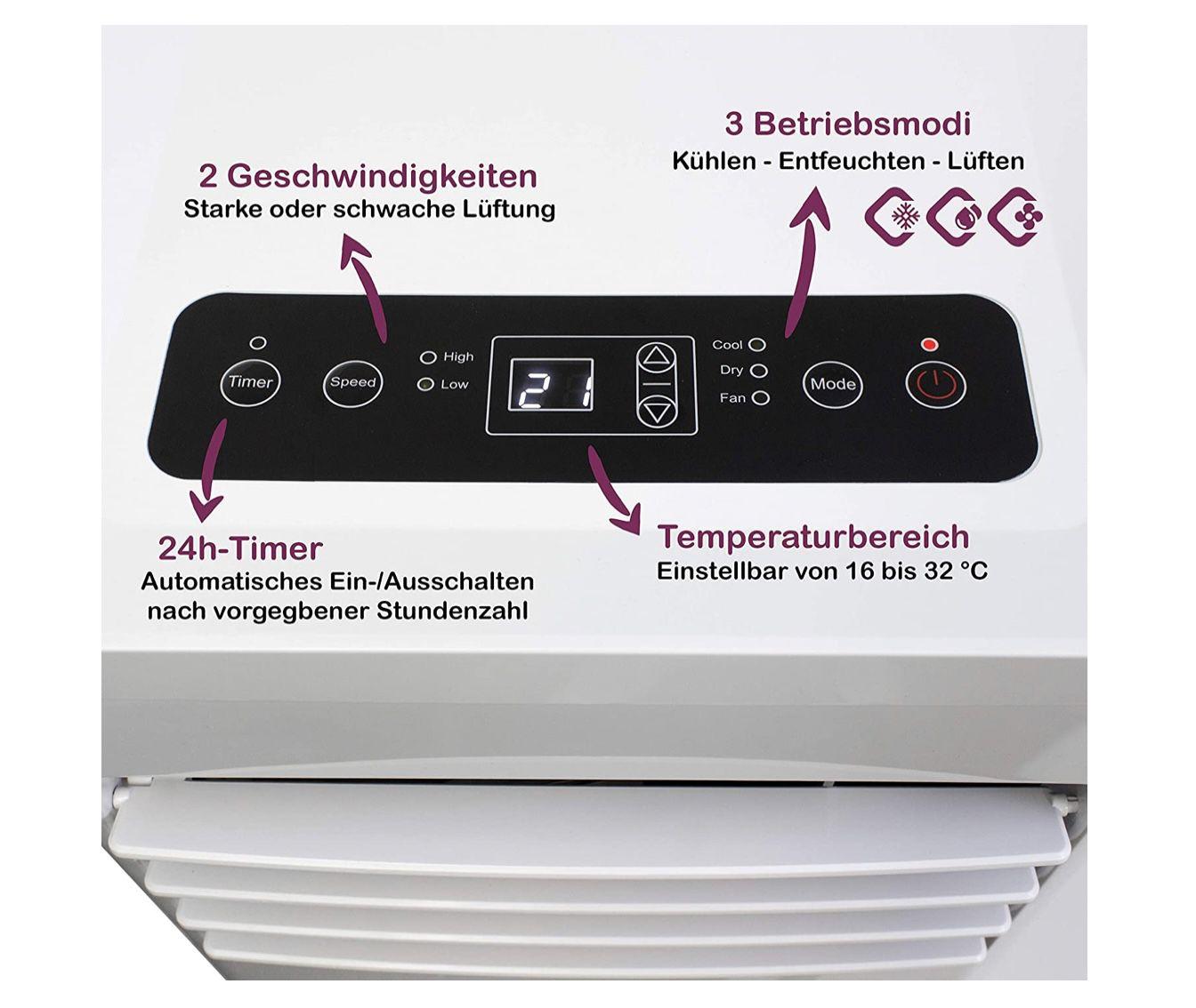 Homex Mobiles Klimagerät A 32 50 W inkl. Fernbedienung für 159,99€ (statt 200€)