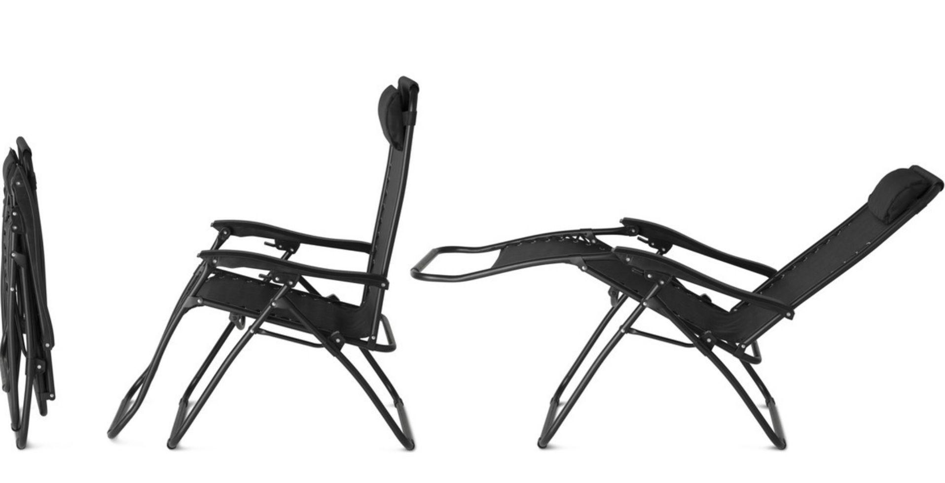 2er Set 909 Outdoor Liegestuhl in Schwarz für 78,90€ (statt 100€)