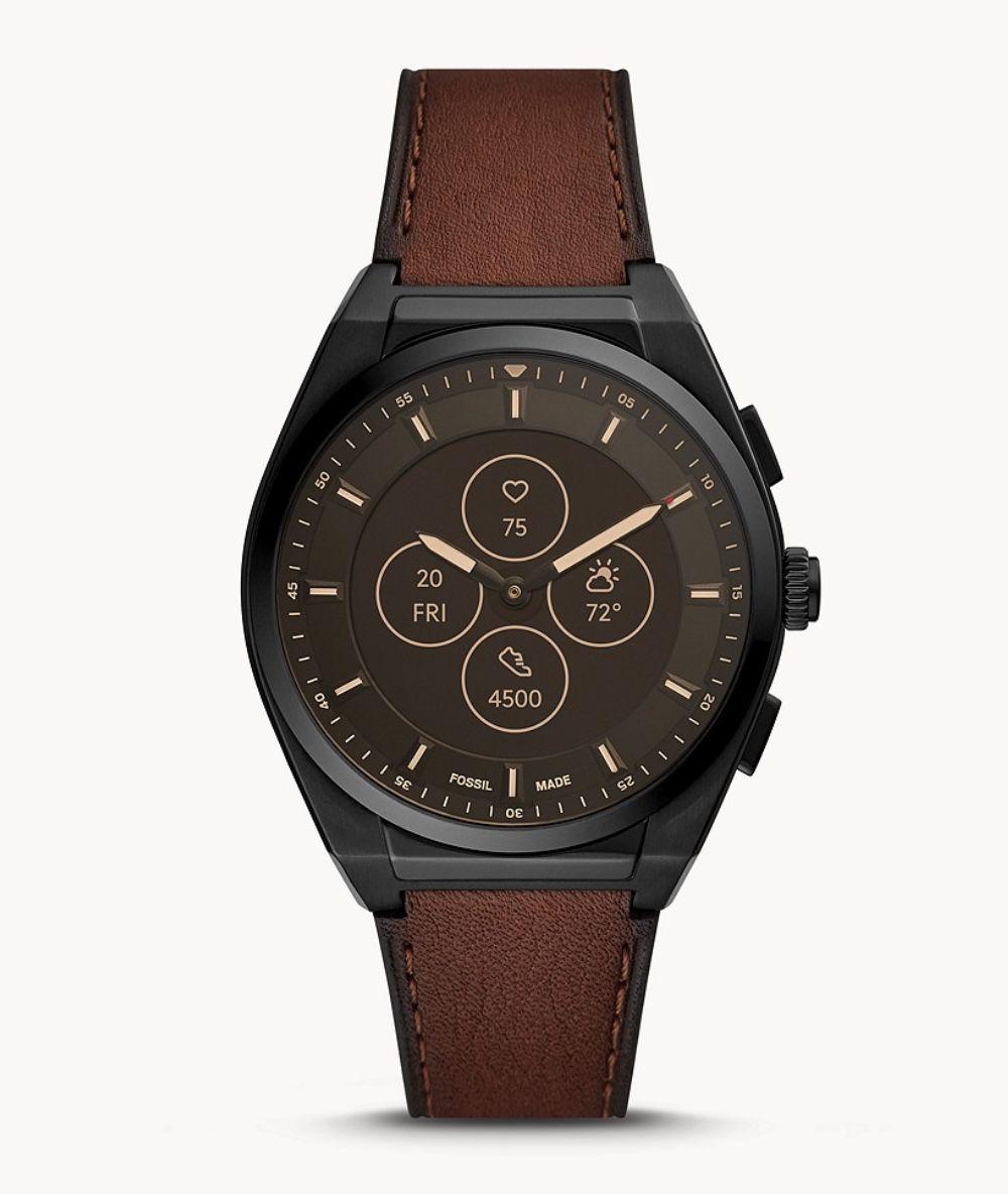 Fossil Hybrid Smartwatch HR Everett mit Lederarmband in Braun für 139,30€ (statt 199€)