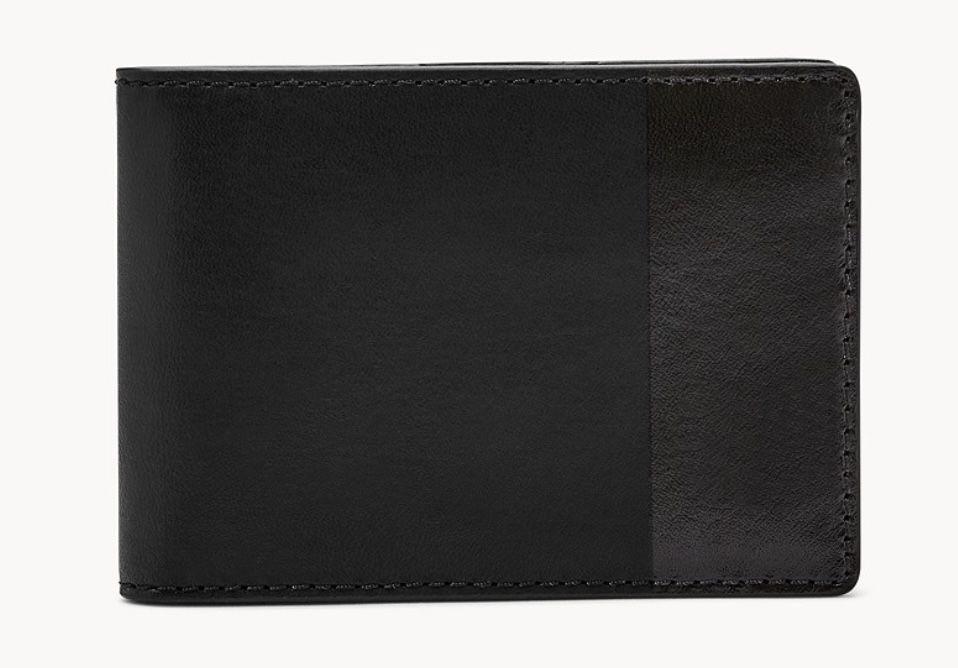 Fossil Herren Geldbörse in Schwarz für 17€ (statt 45€)