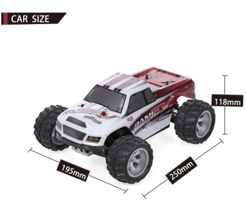 WLtoys Auto A979 B 2.4G 70km/h Big Foot Truck RC Crawler RTR für 63,74€ (statt 80)
