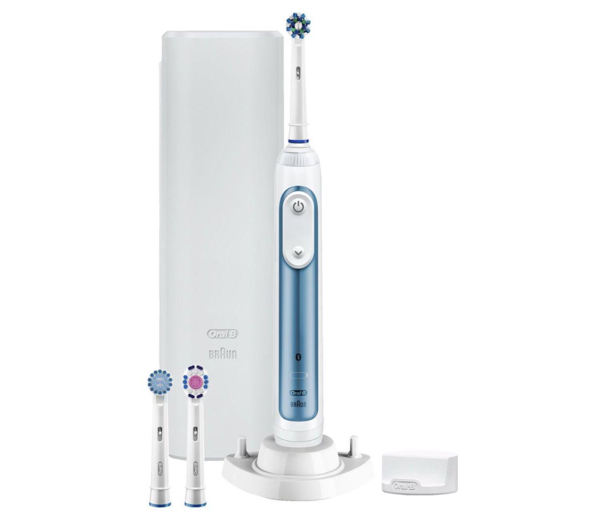 Oral B Smart 6 6000N Elektrische Zahnbürste in Weiß/Blau für 69,99€ (statt 90€)