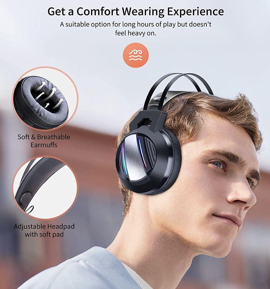 ShinePick 3.5mm Gaming Headset mit Mikrofon und LED Licht für 9,99€ (statt 20€)   Prime