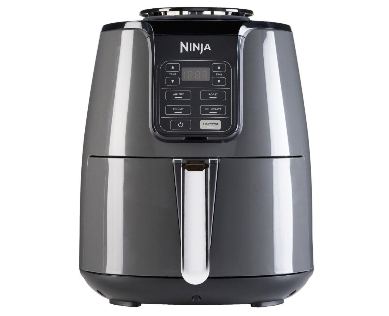 Ninja AF100EU Heißluftfritteuse mit präziser Temperaturregelung in Schwarz/Silber für 82€ (statt 89€)