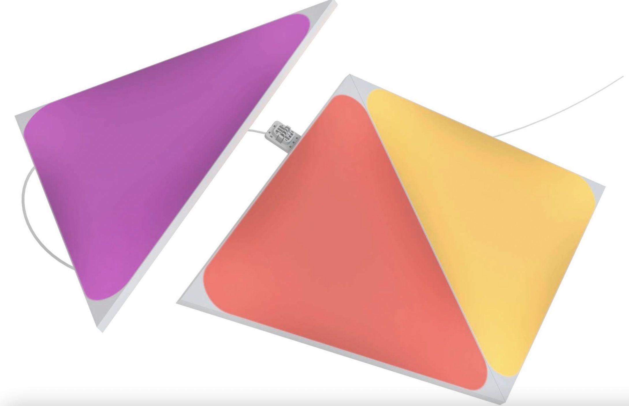 Nanoleaf Shapes Triangles Expansion Pack   3 zusätzliche Panels für 49,99€ (statt 60€)