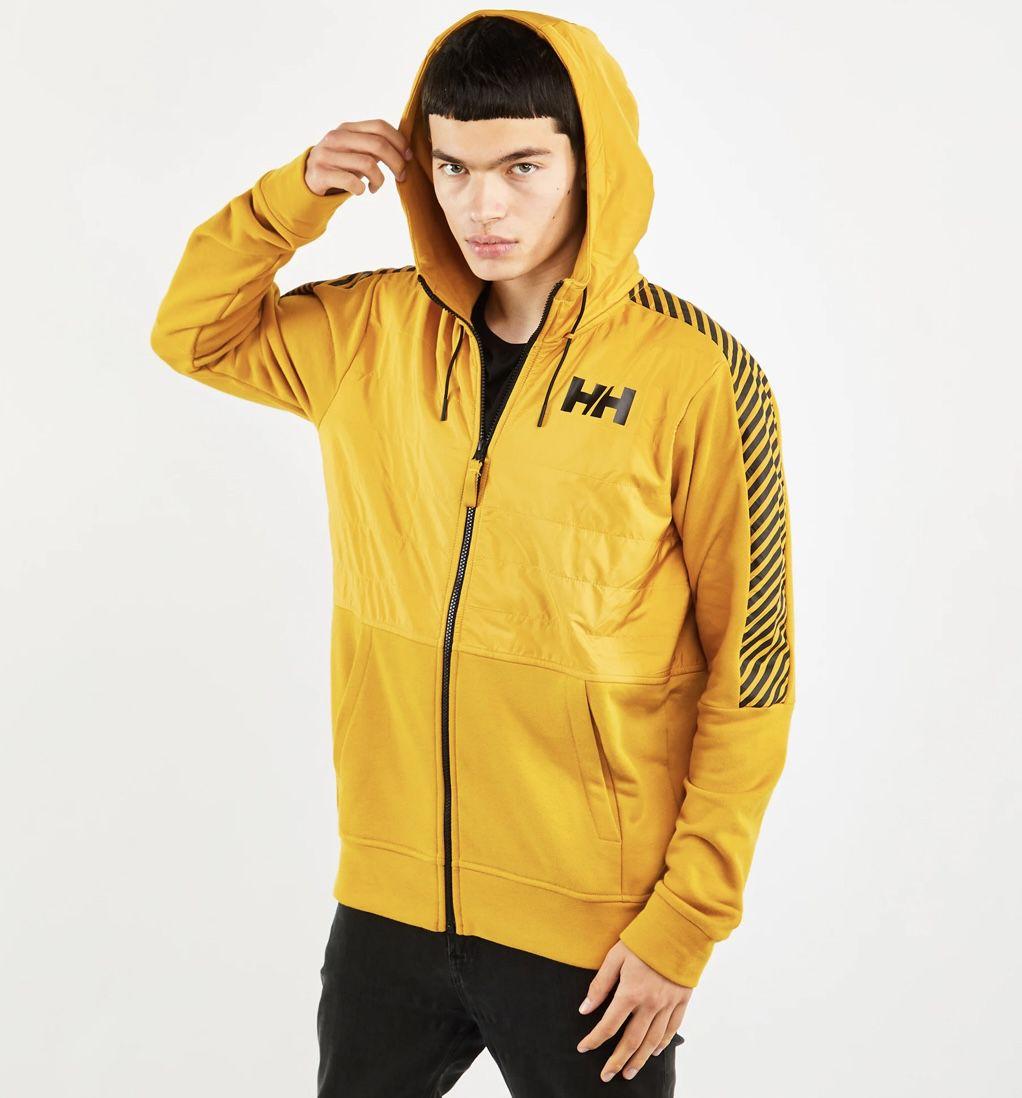 Helly Hansen Stripe Hybrid Herren Jackets in Schwarz und Gelb für 47,99€ (statt 84€)