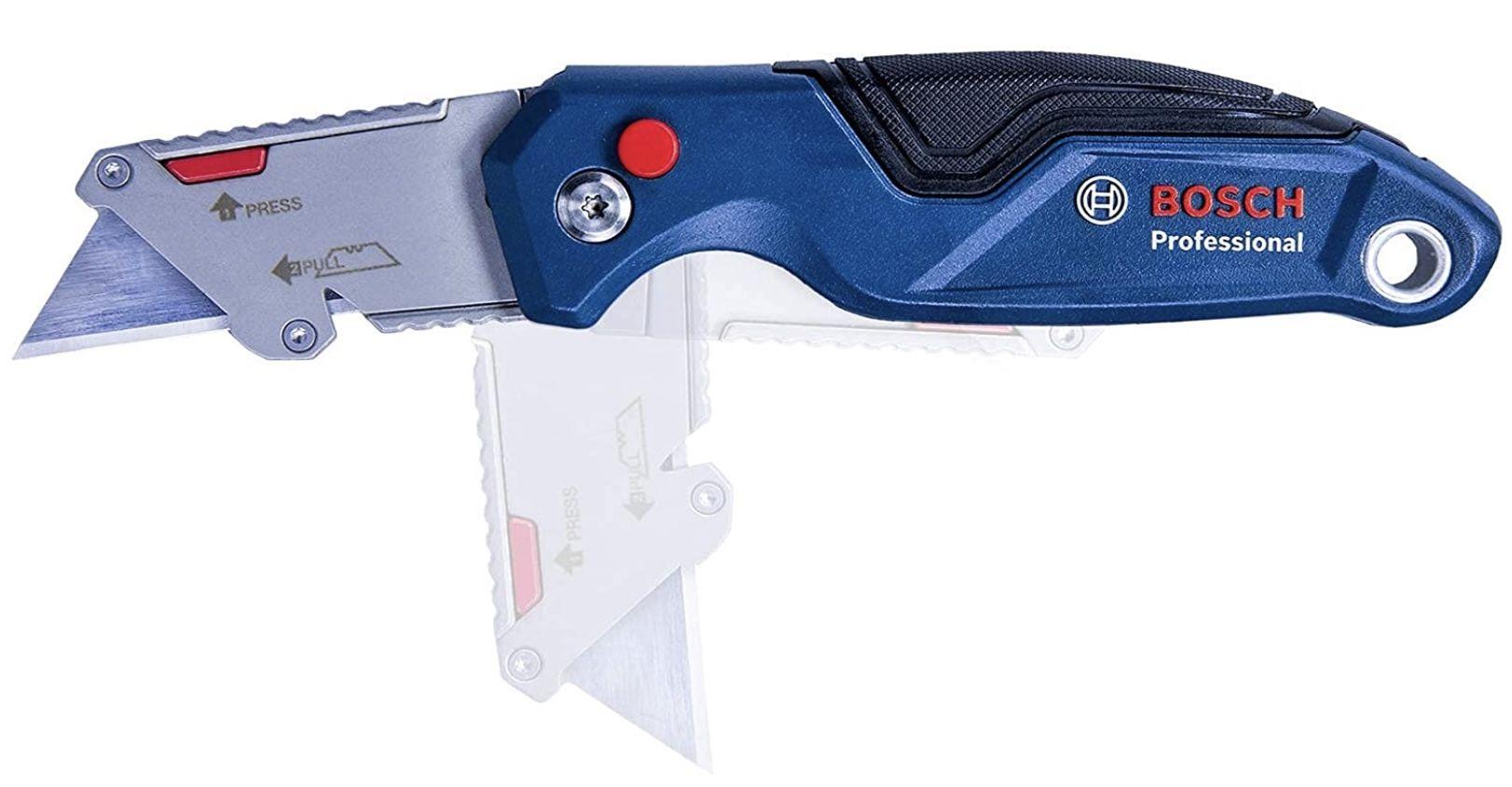 Bosch Professional Universal Klappmesser mit Klingenfach im Metall Griff für 14,99€ (statt 19€)