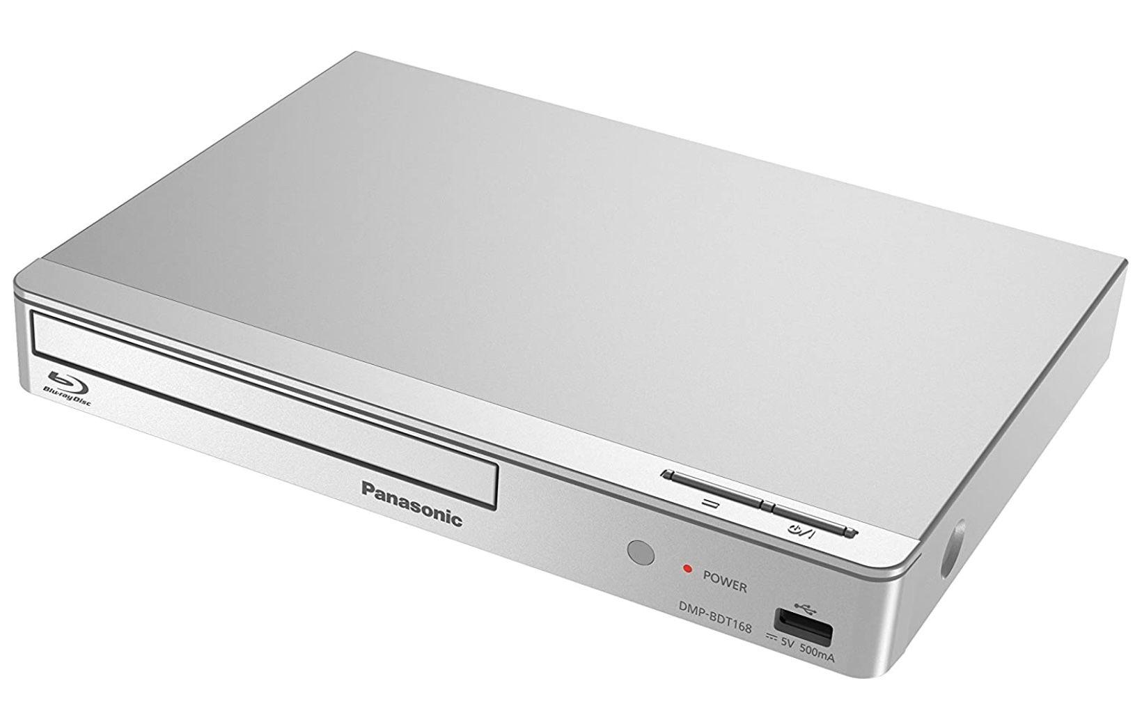 Panasonic DMP BDT168 Blu ray Player in Silber für 54,89€ (statt 66€)